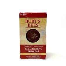 Burt's Bees Cranberry & Pomegranate Replenishing Body Bar Soap 5 oz Damaged Box