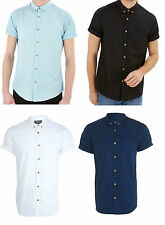 Polycotton Short Sleeve Slim Casual Shirts & Tops for Men