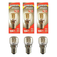 3 X REPLACEMENT LIGHT BULBS   Salt Lamp / Oven Appliance   Eveready SES E14 15W