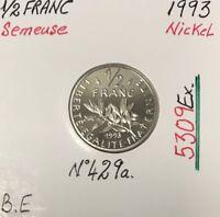 1/2 FRANC SEMEUSE - 1993 - Pièce de Monnaie en Nickel // BE