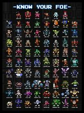 "Mega Man ""Know Your Foe"" Poster"