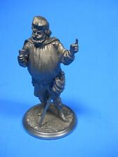 Renaissance Medieval Man with Sword Cape Drink Hat Pewter Figurine