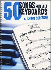 50 canciones para todos los teclados 4-Cuerda Cancionero Libro De Partituras