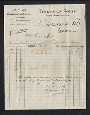 """AUXERRE (89) USINE de CONFECTIONS / VETEMENTS & TISSUS """"L. SOISSON & Fils"""" 1909"""