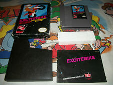 Excitebike Complete Black Box NES Original Nintendo Game RARE