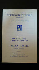 1953 Guildford Theatre: Lesley Merritt Bettine Wakerell in FALLEN ANGELS