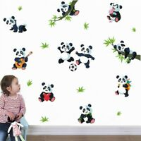 Cute Panda Wall Stickers PVC Cartoon Animal Vinyl Decal Kids Baby Room Art Decor