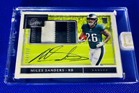 MILES SANDERS 2019 PANINI ONE Rookie Patch Auto #/199 True RPA 4 Color Patch