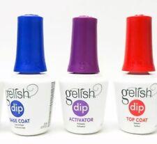 Gelish Soak Off Basix Acrylic Powder Dip  3pcs (TOP,BASE,ACTIVATOR) on sale