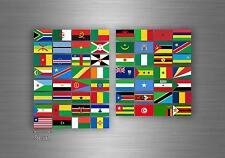 Planche autocollant sticker drapeau pays rangement classement timbre afrique r2