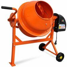 vidaXL Betonmolen Elektrisch 63L 220W Oranje Beton Molen Cementmixer Cement