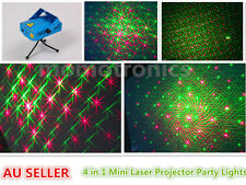 G 4 IN 1 Mini Laser Party Lights with Music Sensor & Remote for Christmas Disco