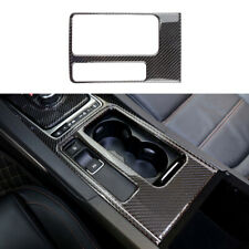 For Jaguar XE 2016-2019 Real Carbon Fiber Central Console Water Cup Cover Trim
