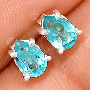 Blue Topaz 925 Sterling Silver Earring - Stud Jewelry BE44445 XGB