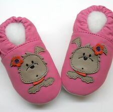 Minishoezoo puppies pink 12-18m soft sole leather baby shoes walking