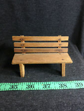 DOLLHOUSE MINIATURE ANTIQUE FURNITURE STORE WOOD BENCH SCALE very old 1:12