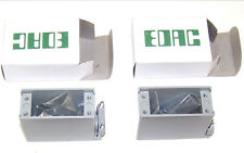 Lot TWO New In Box EDAC Elco 38 pin Metal Hoods Shells, Complete W/Hardware. E1