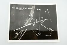 Vintage NASA Press Photo 50 Man Space Base Concept B 1980 V95