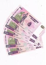 CONGO  P95 5X200 FRANCS 2000 CONSEC NUMBERS AUNC