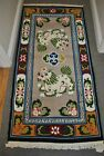 vintage TIBETAN-NEPAL Wool, FOO DOG Rug 3' x 6' GREAT COLORS