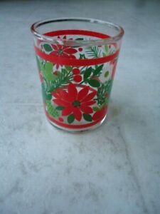 "Bright & Shiny Glass Flower, Apple & Strawberry Votive Candle Holder 2 ½"" X 2"" D"