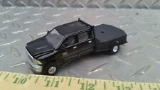 1/64 CUSTOM dodge black 2500 decked ranchhand flatbed pickup truck ERTL farm toy
