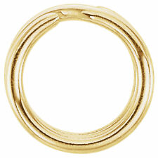 6.5mm 6mm 14k Yellow Gold Split Ring Clasp Keychain Style Charm Connector 18ga