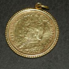2 Mark Deutsches Reich Preußen 1901 900er Silber vergoldet? Anhänger