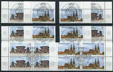 Bund 2844 - 2845 Eckrand oder Viererblock gestempelt Vollstempel Berlin ETSST