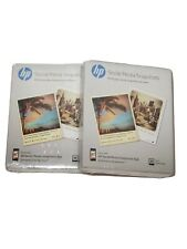 HP Social Media Snapshots 25 Photo Paper 2Packs 4 X 5 Non Sticky Back New In Box