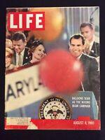 VINTAGE ~ LIFE Magazine Aug 8 1960   Nixon's Campaign Begins  M1797