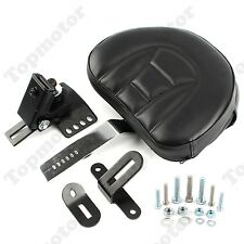 Adjustable Plug-In Driver Rider Backrest Kit For Harley Electra Glide Road King
