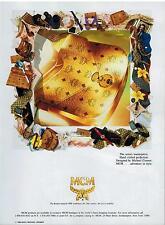 1989 MCM Luggage & Perfume  FASHION Magazine  PRINT AD (2-pg)