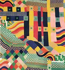 Vtg Liberty Fabric Bauhaus retro 70's Iconic Modernism DIY wall art framing #32