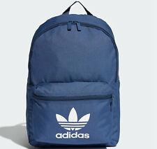 Adidas Originales Clásico Mochila Bolsa Escolar Gimnasio adicolour Azul Hombre Mujer Nuevo