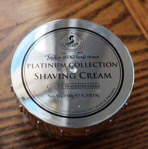 Taylor of Old Bond Street Platinum Shaving Cream 150g New