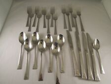 ONEIDA Flatware LEDGES Mixed Lot 25 Pieces Forks Knives Spoons Made USA
