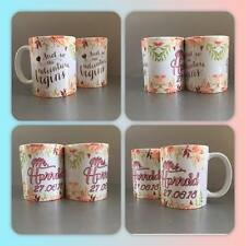 personalised mug cup wedding and so the adventure begin mr mrs gay straight love