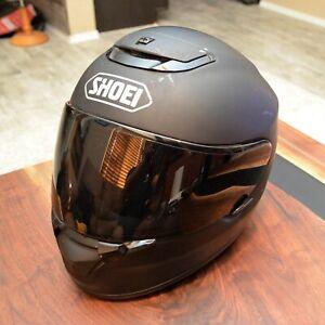 Shoei Qwest Helmet, Size Small Flat Black Matte Smoked tinted Visor Motorcycle