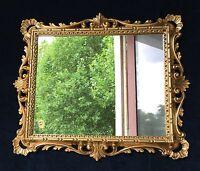 Wandspiegel Silber Rund mit Wandkonsole Gold Spiegelablage 42cm SILBER Retro