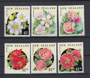 New Zealand: 1992 Flowers Camellias set of 6 stamps. L/Jury 1010-15. Going Cheap