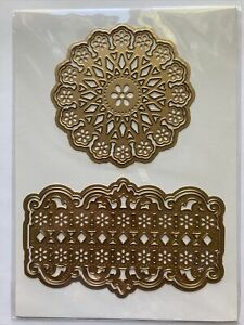 """Anna Griffin 5.5"""" Daisy Card Frame Shapes Embossing Stencils Cutting Dies"""