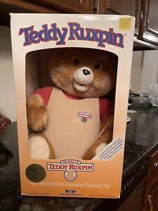 1985 Worlds of Wonder Teddy Ruxpin Animated Talking Toy - NIB No Cellophane