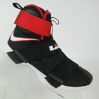 Nike Lebron Soldier X 10 Basketball Shoes Black Red Bred White Mens Size 10