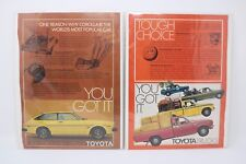 1979 Toyota Corolla SR-5 Liftback & 1977 Toyota Trucks Vintage Print Ads (2) HTF