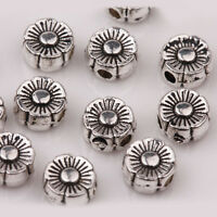 Lots Tibetan Silver Charm Loose Spacer Beads Nacklace Findings Making DIY 6X3mm