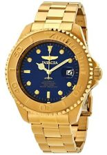 Invicta Pro Diver 24 Jewels Automatic Blue Dial Gold Steel Mens Watch 28951 SD