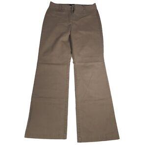 Talbots Curvy Casual Dress Pants Khaki Brown Office Career Size 6 Boot Cut