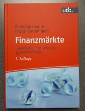 Klaus Spremann Pascal Gantenbein Buch Finanzmärkte 5. Auflage 2019