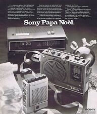 PUBLICITE ADVERTISING 015 1975 SONY Radio cassette réveil                 290115